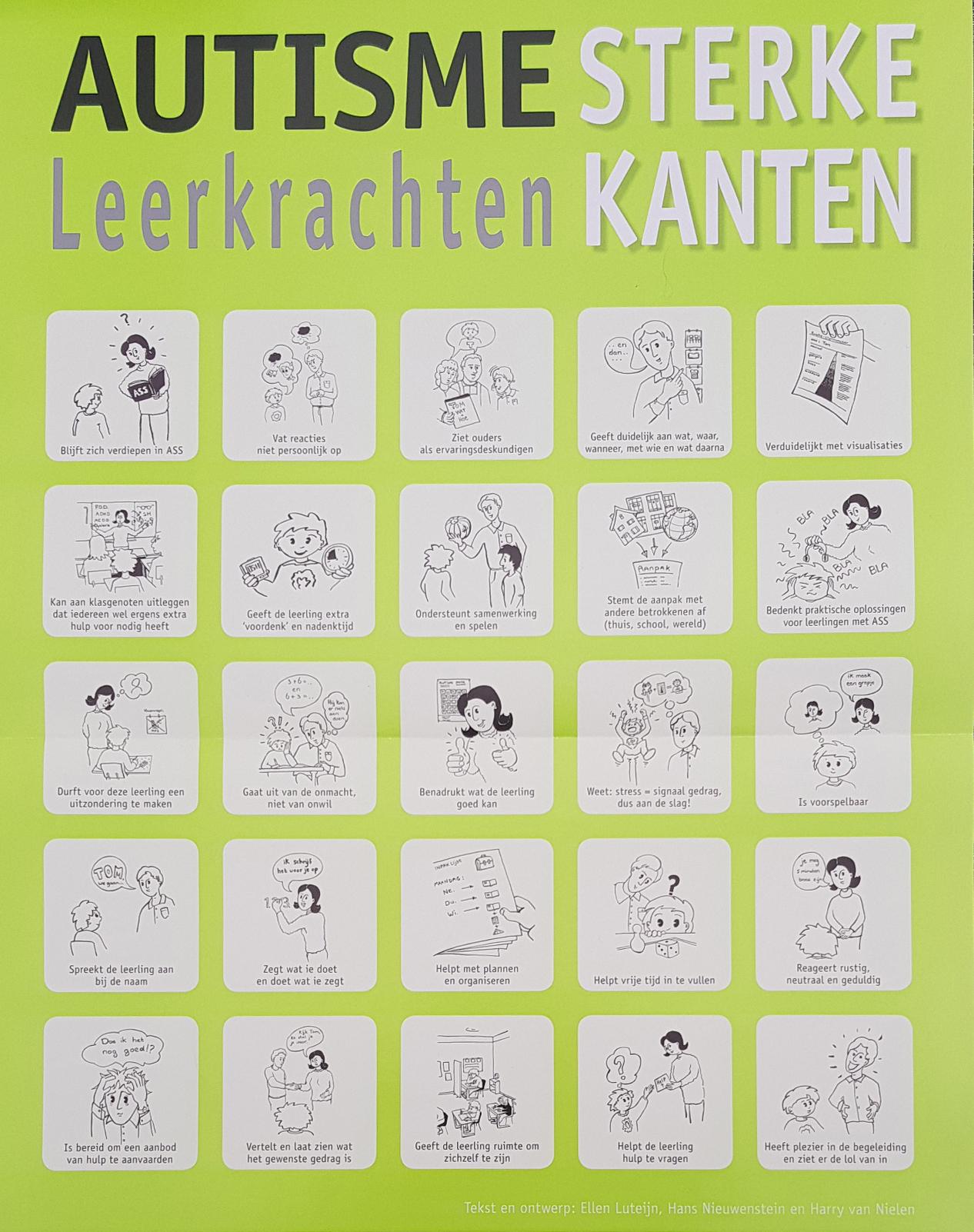 Bedwelming Poster Autisme sterke kanten (leerkrachten) - NVA regio Noord-Brabant &XD54