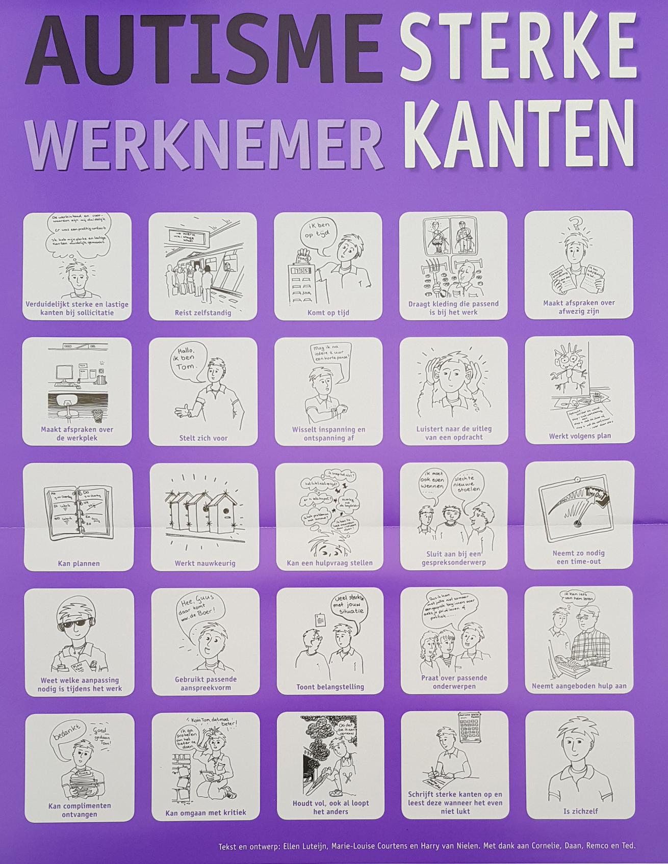 Super Poster Autisme sterke kanten (werknemer) - NVA regio Noord-Brabant &HR73